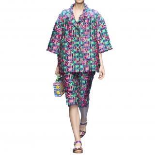 Dolce & Gabbana Catwalk Featured Fil Coupe Cropped Trousers