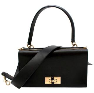 Giorgio Armani Leather bag W/ plexiglass turnlock