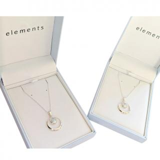 Elements Two Sky Topaz Silver Necklaces