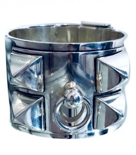 Hermes Solid Silver Collier De Chien Cuff