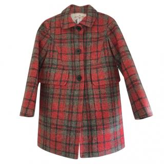 Bonpoint plaid cotton coat