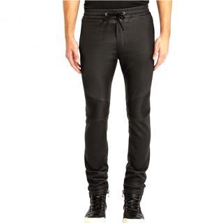 Balmain Leather Biker Pants