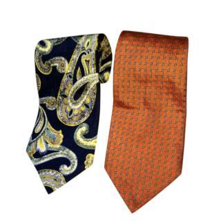Paul R Smith set of two silk ties