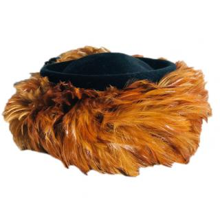 Philip Treacy Feather-Trimmed Hat