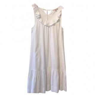 Sandro sleeveless white dress