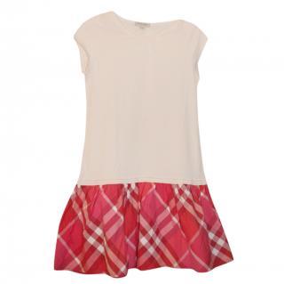 Burberry peplum-hem girls dress