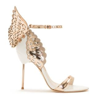 Sophia Webster Evangeline White & Rose Gold High Sandals