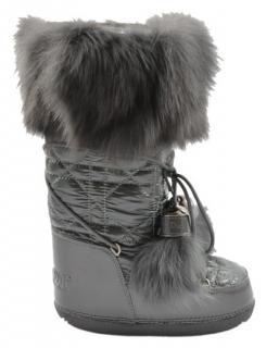 Dior grey snow boots
