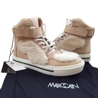 Marc Cain Leather & Fur Ankle Boots