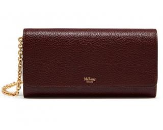 Mulberry Continental Wallet on Chain - Oxblood