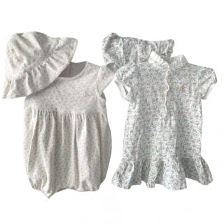 Ralph Lauren Baby Girl Dress & Babygrow Set