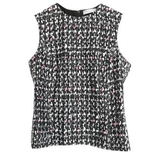 Christian Dior Houndstooth Jacquard Sleeveless Top