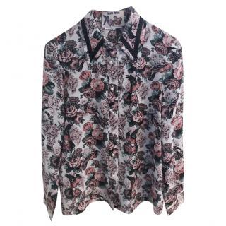 Miu Miu printed silk blouse