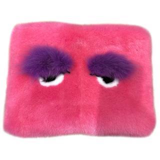 Bespoke Funky Eyes Mink Fur Clutch