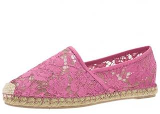 Valentino Pink Lace Espadrilles