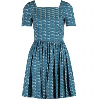 Dolce & Gabbana Blue Swordfish Dress