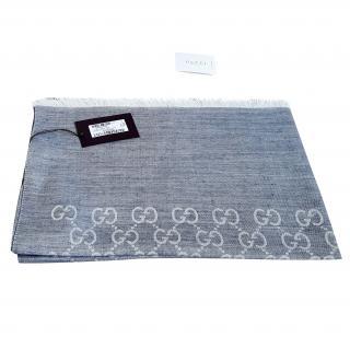 Gucci GG Wool & Silk Guccisisima scarf