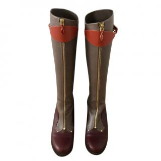 Christian Louboutin knee-high leather boots