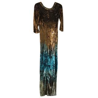 Matthew Williamson multi-sequin gown