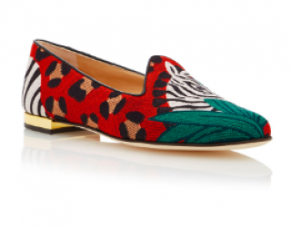 Charlotte Olympia animal kingdom flat pumps
