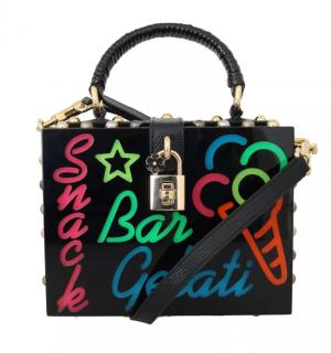 Dolce & Gabbana Runway Neon Lights Box Bag