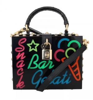 Dolce & Gabbana Runway Neon Lights Box Bag