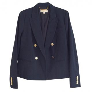 Michael Kors Navy Double-Breasted Blazer