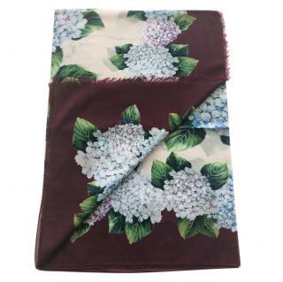 Dolce & Gabbana Hydrangea cotton scarf wrap
