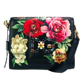 Dolce & Gabbana black floral Millenials bag