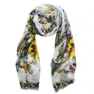 Dolce & Gabbana Maiolica cashmere scarf wrap