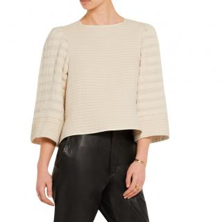 Isabel Marant Greg quilted-cotton cream top