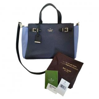 Kate Spade Blue Leather Tote Bag