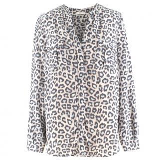 Joie Leopard Print Blouse