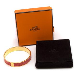 Hermes Coral Kawaii 07 Lizard Bangle