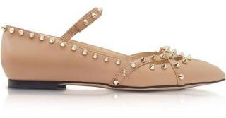 Charlotte Olympia Kensington Nude Beige Flat Shoes