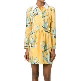 Fendi Yellow Birds Of Paradise Dress