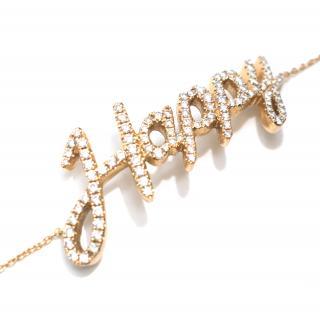 Pia Hallstrom 'Happy' 1.05ct Diamond Set Rose-Gold Bracelet