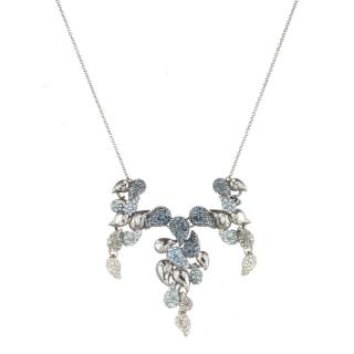 Alexis Bittar Crystal Encrusted Ombre Articulated Bib Necklace