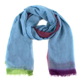 Mirror in the Sky Blue Lightweight Scarf