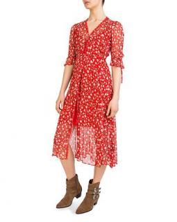 The Kooples Rosa Rosa Floral-Print Midi Dress