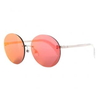 Chanel Airline Runway Mirrored Orange Sunglasses