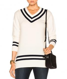 Frame Denim cricket-style cream sweater