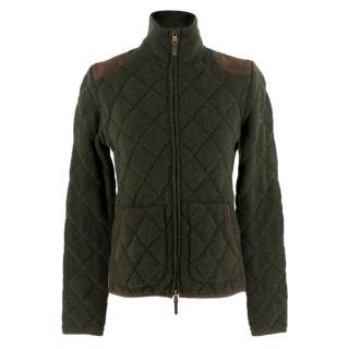 Ralph Lauren Green Cashmere Quilted Jacket