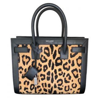 Saint Laurent Leopard Baby Sac de Jour Bag