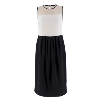 MaxMara Studio Monochrome Sleeveless Dress