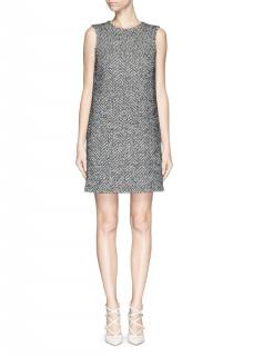 Dolce & Gabbana  a-line classic herringbone wool mini dress