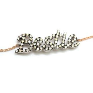 Pia Hallstrom 'Bestie' 0.16ct Diamond Set Rose-Gold Bracelet