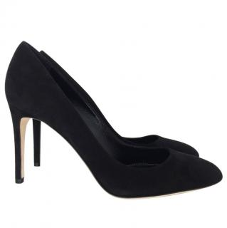 Sergio Rossi black suede pumps