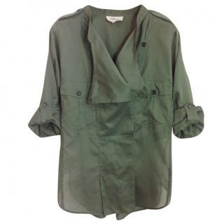 Isabel Marant Etoile military green shirt