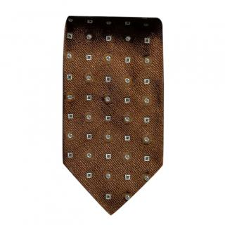 Prada Brown Silk Neck Tie